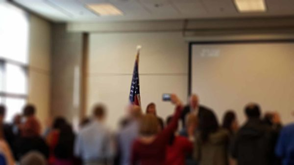 Our members attended a naturalization event for new citizens.